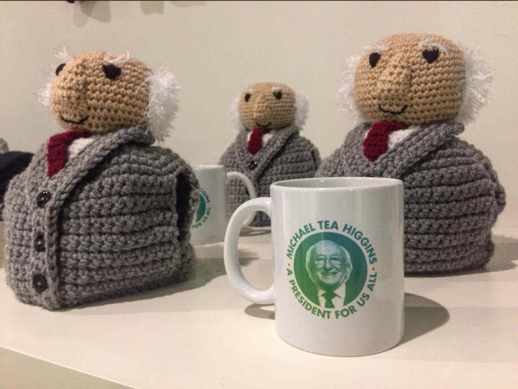 Michael D Higgins tea cosy