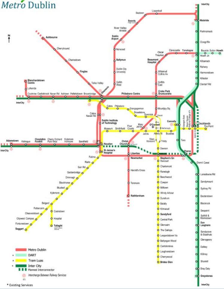 Dublin Metro Plans