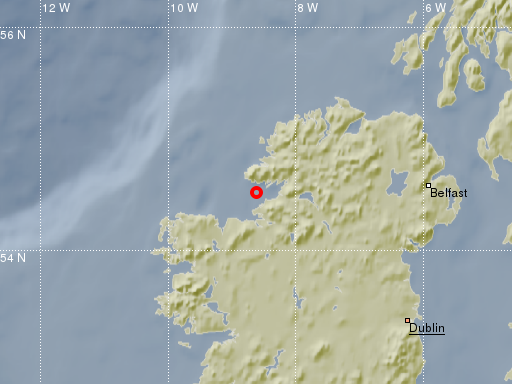 earthquake Donegal