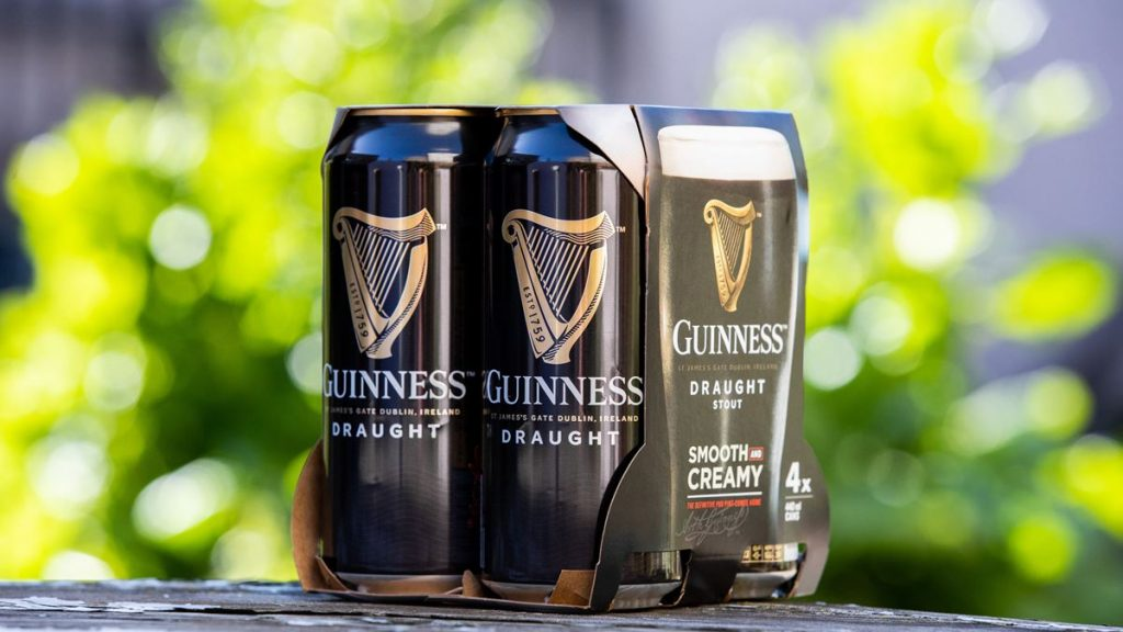 Guinness ditches plastic from beer packaging