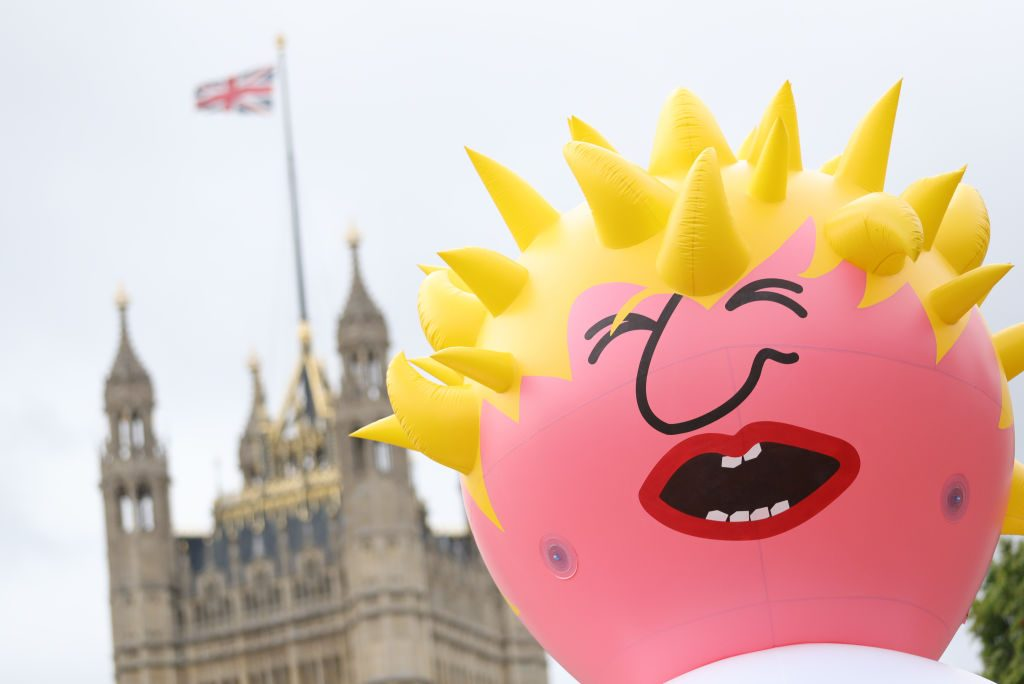 Boris Johnson blimp