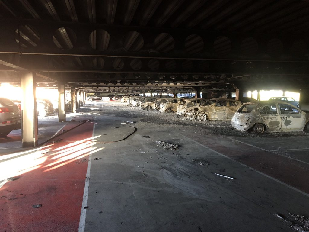 car park fire