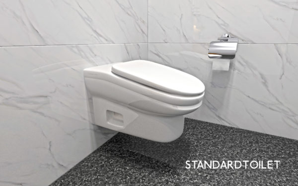 Sloped toilets nudge employees back to work