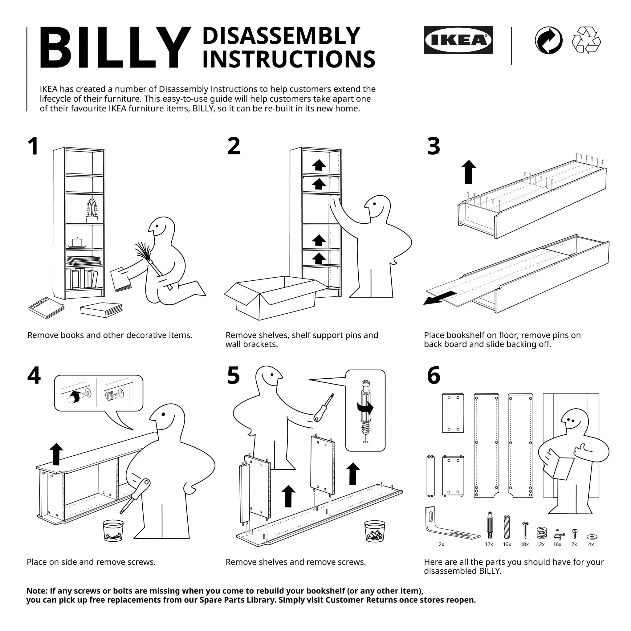 IKEA Disassembly Instructions